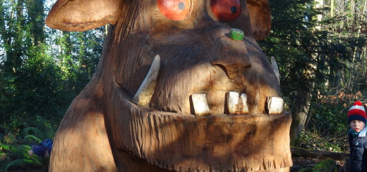 the gruffalo's child trail at westonbirt arboretum
