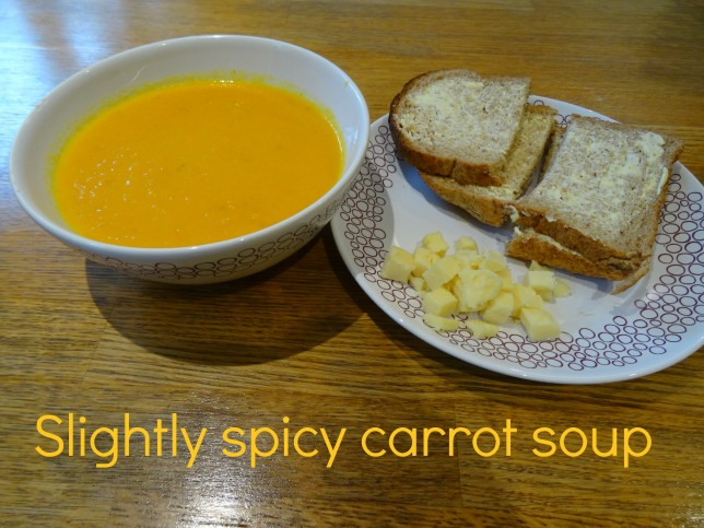 slightly spicy carrot soup recipe
