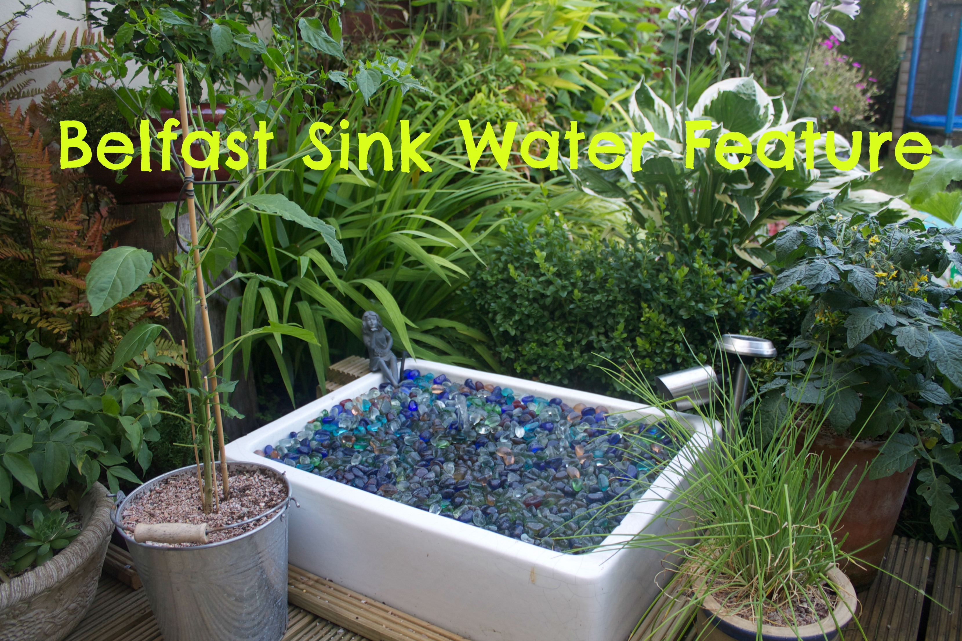 Make A Water Feature From Belfast Sink