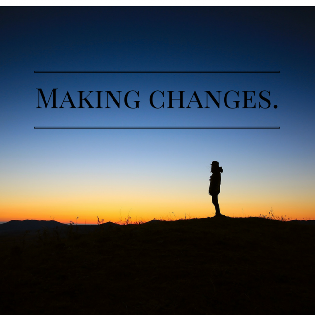 Making changes.